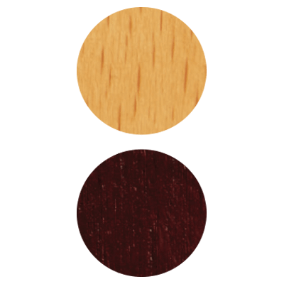2 options of wood finish