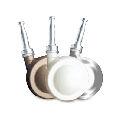 3 options of castors