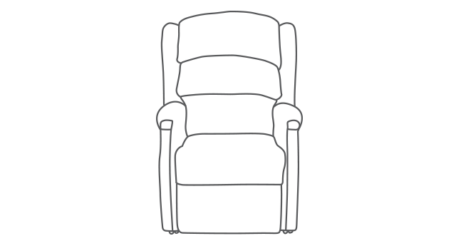 Linton Single Motor Riser Recliner diagram