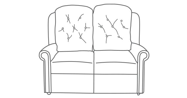 Hampton Relax Two-Seater Sofa diagram