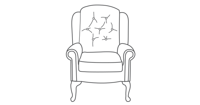Hampton Legged Comfort Chair diagram