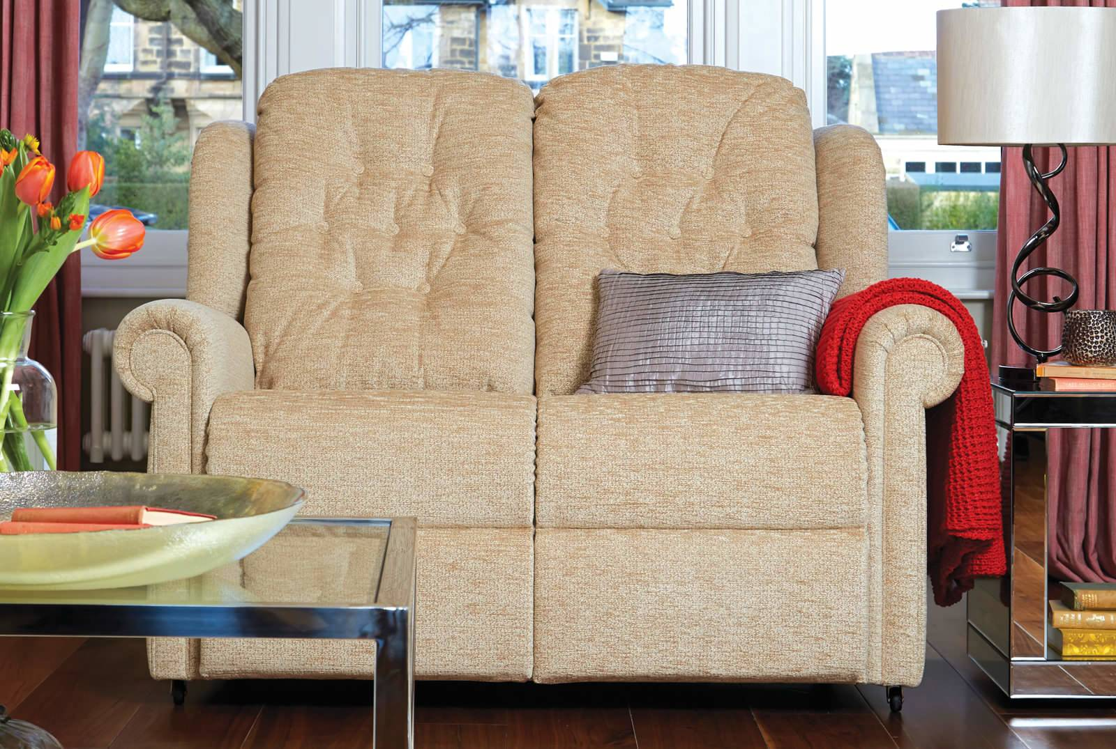 Hampton Two-Seater Comfort Sofa in Boucle Jute