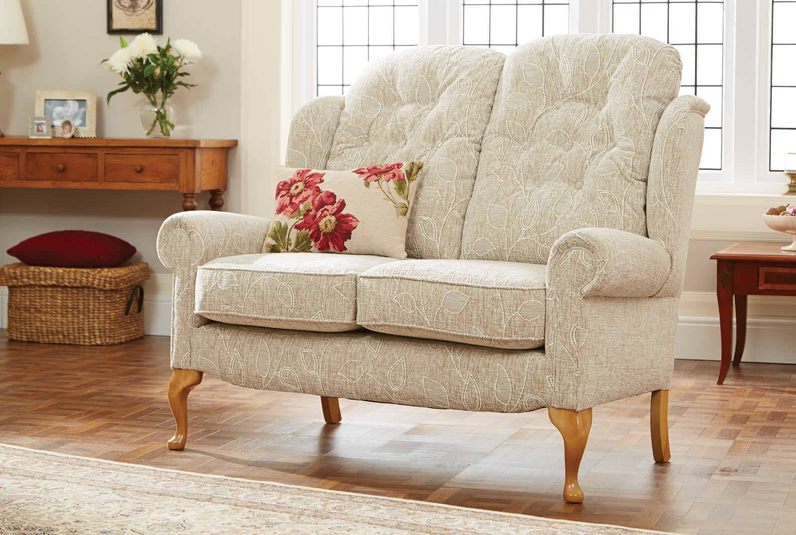 Hampton Legged Two Seater Comfort Sofa