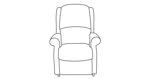 Berwick Single Motor Riser Recliner diagram