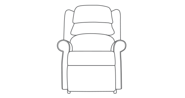 Waltham SIngle Motor Riser Recliner diagram