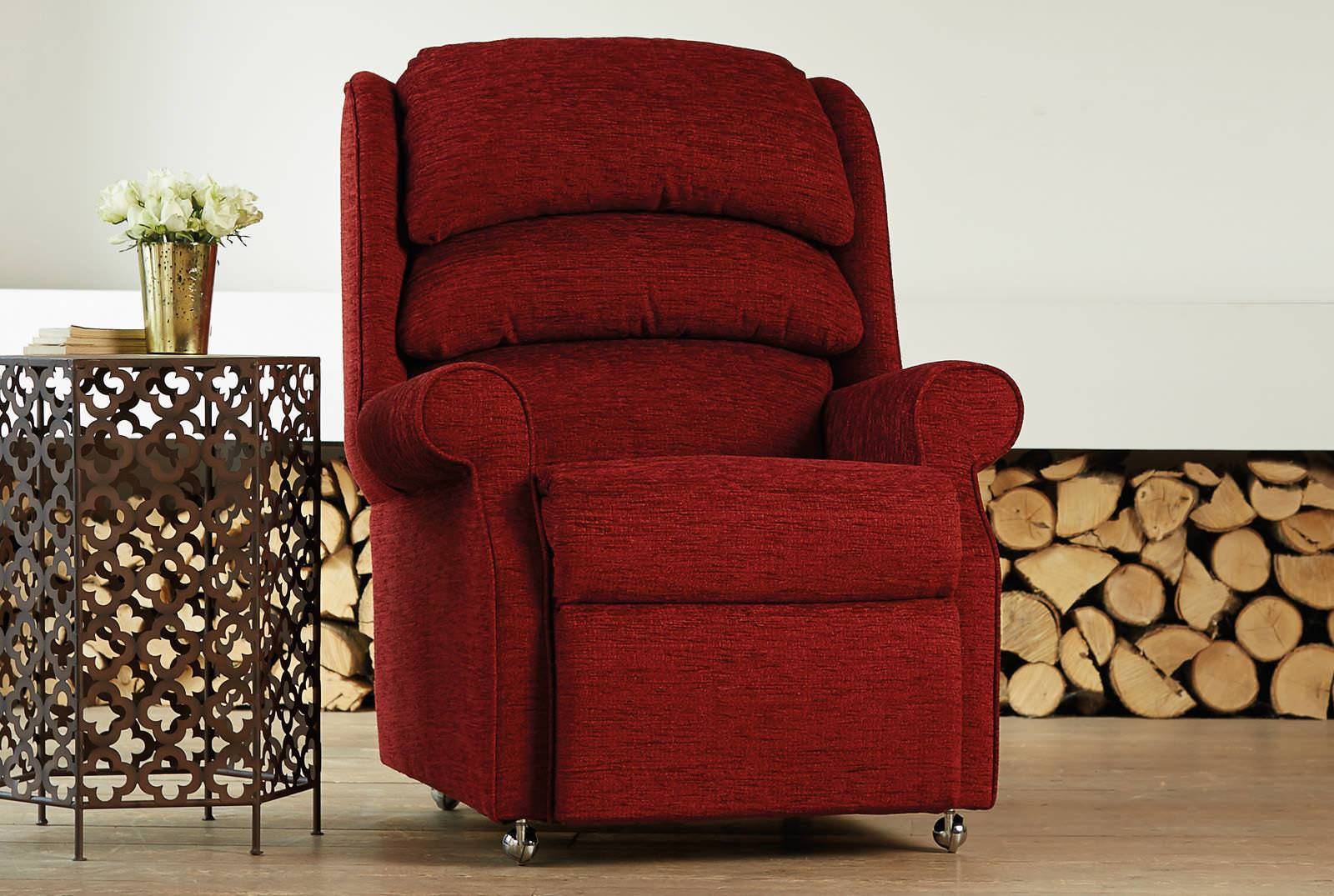 Waltham Comfort Chair in Boucle Wine
