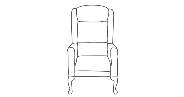 Carlton Comfort Chair diagram