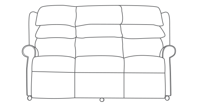 Waltham 3 Seater Sofa diagram
