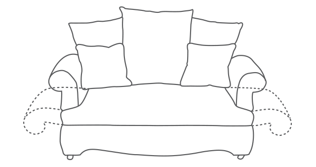 Beaumont Drop-Arm Sofa diagram