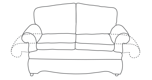 Askrigg Drop-Arm Sofa diagram