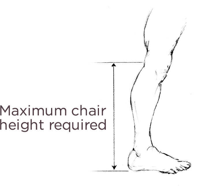 Maximum chair height required