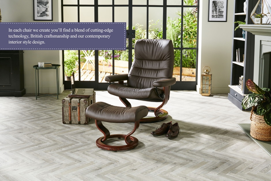 Our swivel recliner chairs and armchairs combine cutting-edge technology and British craftsmanship.