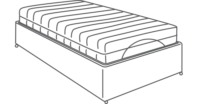 Surrey Adjustable 4ft Bed diagram