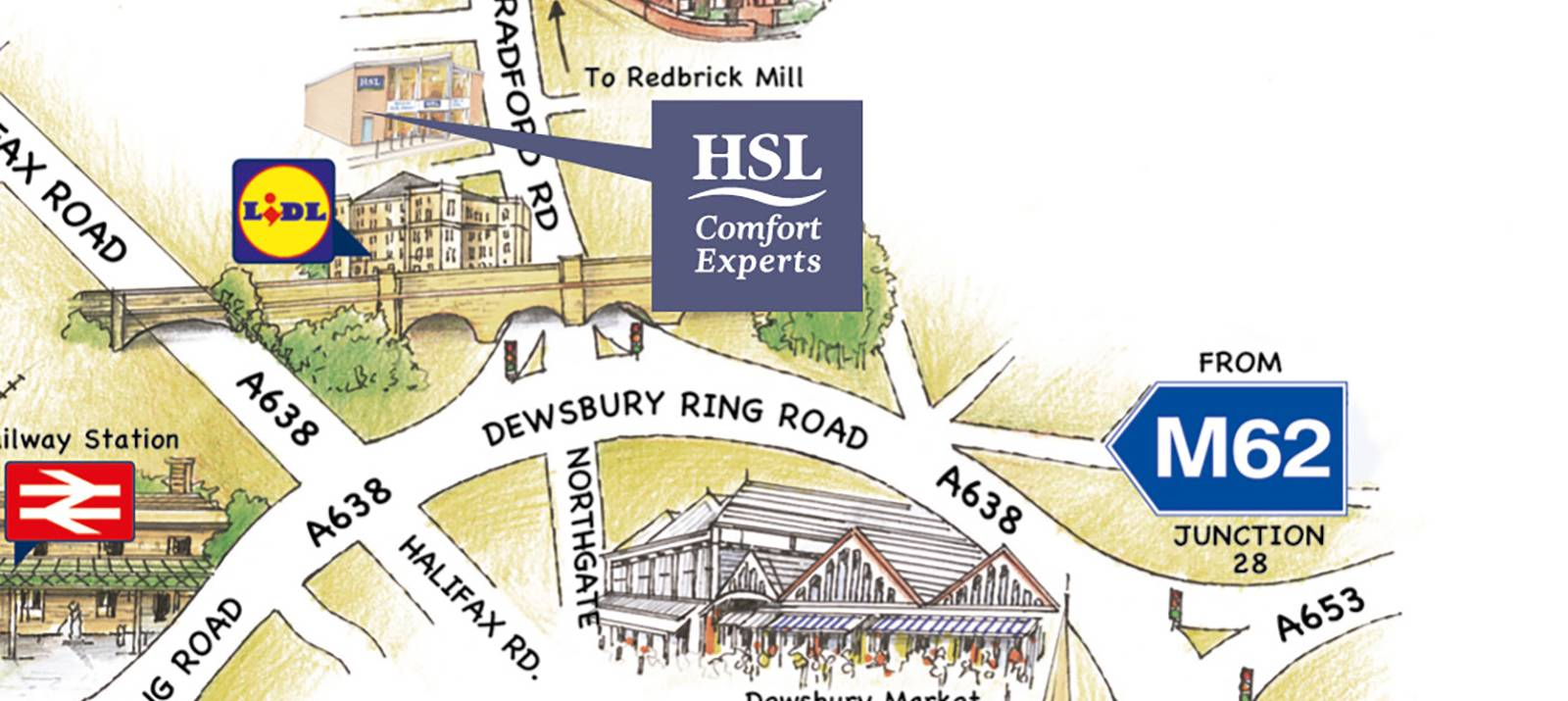 Dewsbury Store Map And Directions