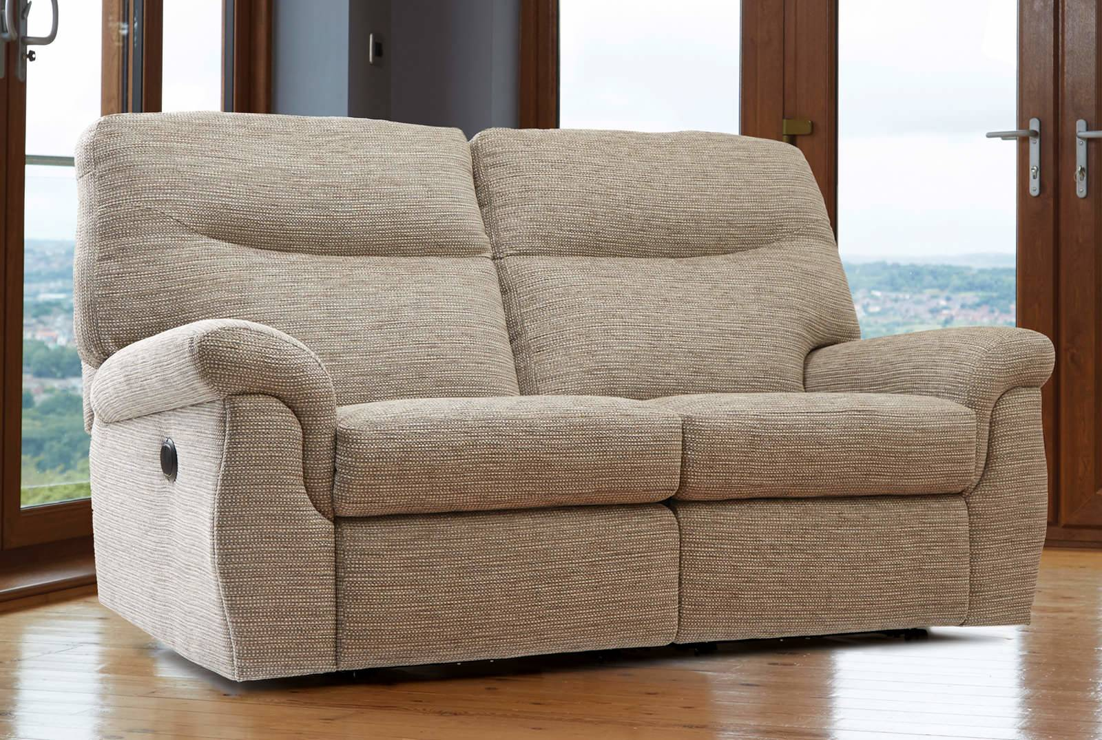 Ashbourne Two-Seater Powered Recliner Sofa