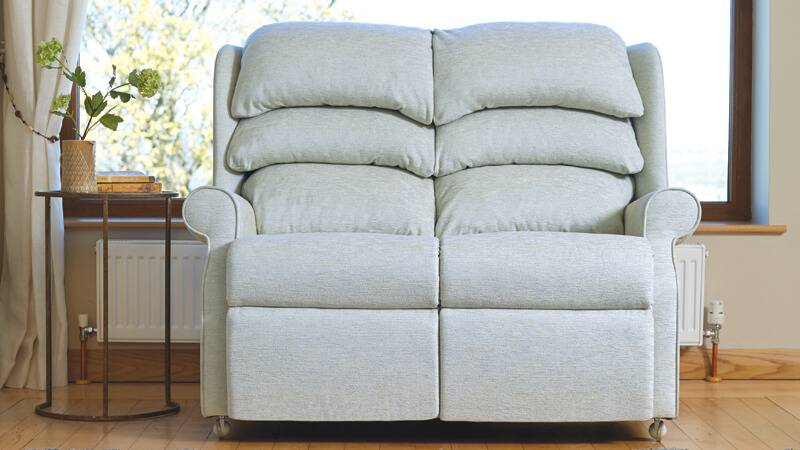Waltham Two-Seater Sofa in Conway Plain Wedgwood