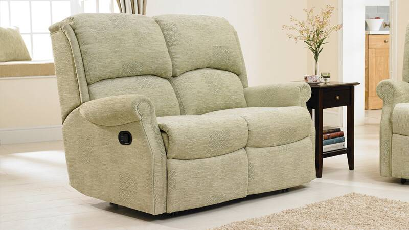 Berwick Two-Seater Riser Recliner Sofa in Patchwork Evergreen
