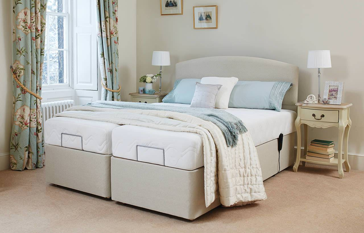 Handmade Adjustable Electric Beds : Single double adjustable beds handcrafted in the uk hsl