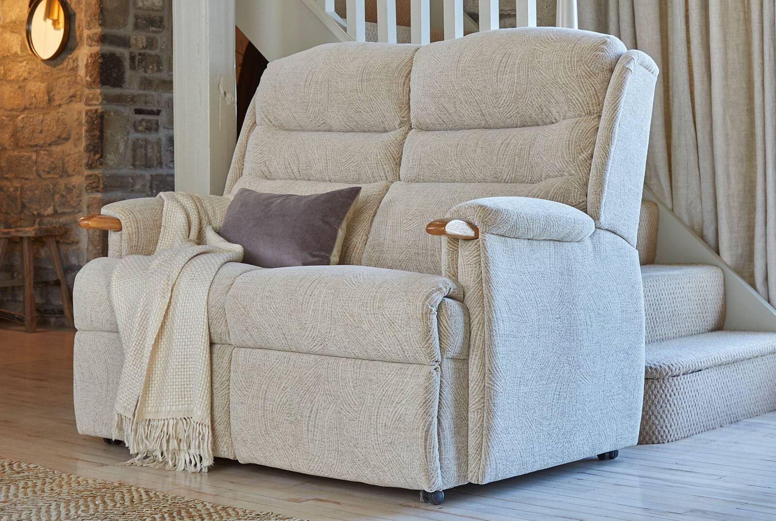 Ripley Two-Seater Comfort Sofa in Ivrea Sand