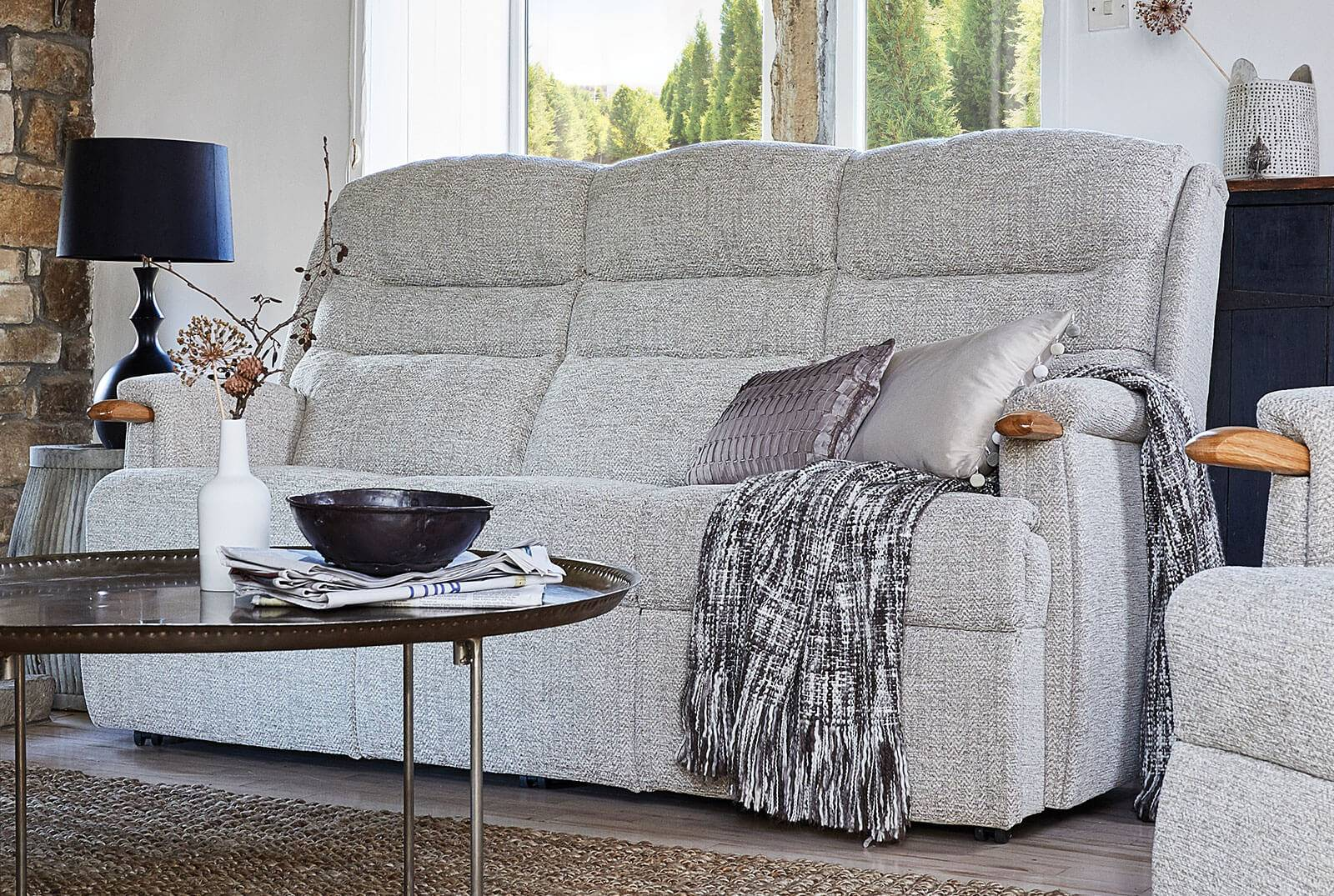 Ripley Three-Seater Comfort Sofa with Knuckles in Canillo Alpine
