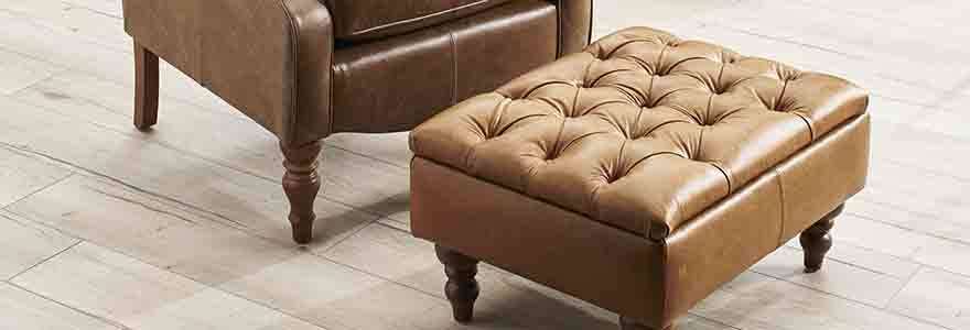 Glenmore Button Top Storage Footstool