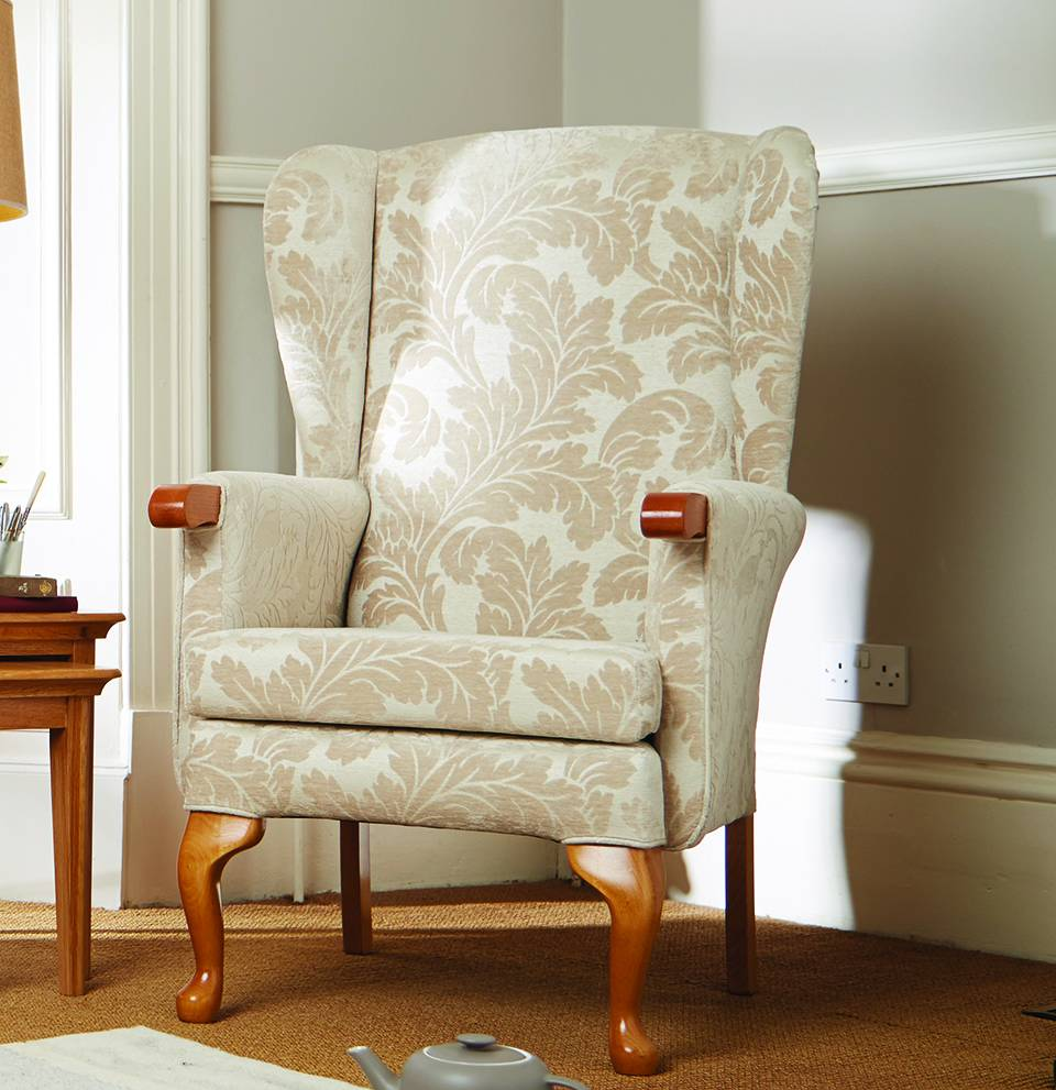 Helmsley Fireside Chair in Tirian Marble