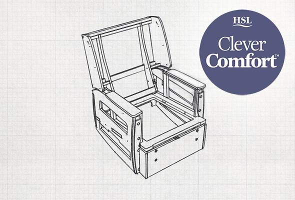 Designed with CleverComfort™