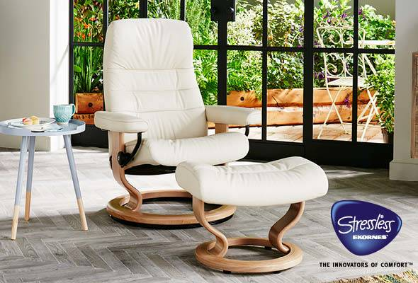Stressless Opal Classic Base in Batick Cream