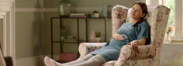 Pregnant woman relaxing in HSL chair