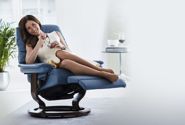 Stressless® Ruby Classic Recliner with LegComfort™ System