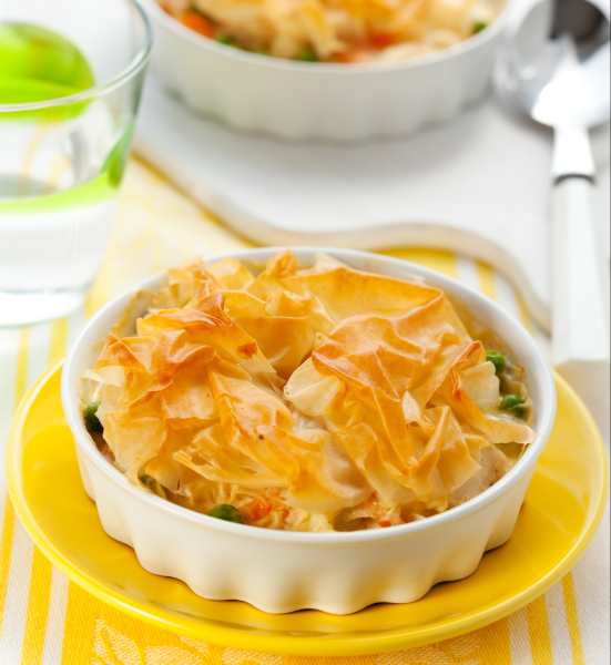 Pastry Chicken And Leek Pie