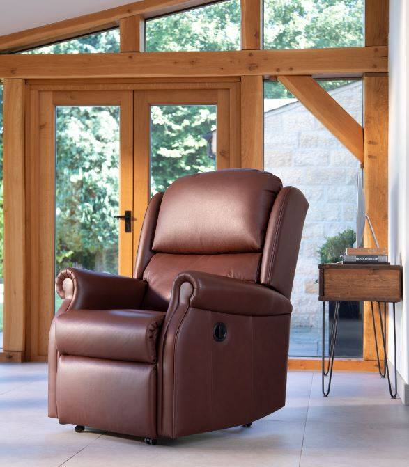 Leather Recliner Burrows Kansas Teak Collection
