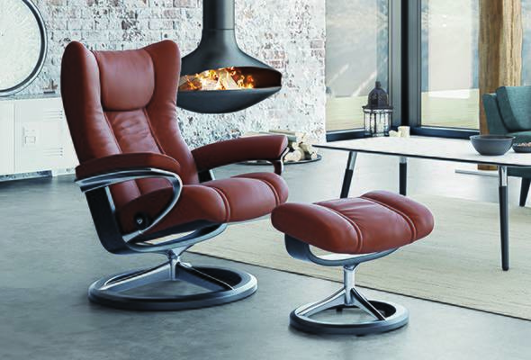 Stressless® Wing Signature Recliner