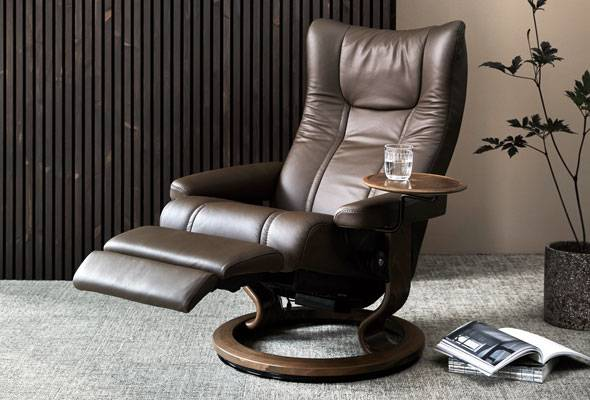 Stressless® Wing Classic Power Leg Recliner